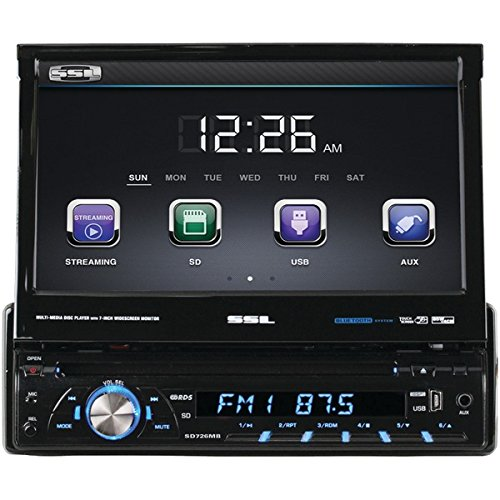 "Sounstorm SD726MB 7"" Single-DIN In-Dash DVD Receiver with..."