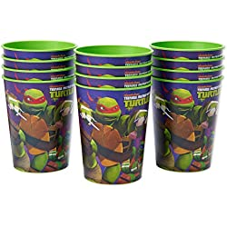 Nickelodeon Teenage Mutant Ninja Turtles Plastic Cups Party, Stadium Cup, 12-Count