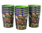 American Greetings Nickelodeon Teenage Mutant Ninja Turtles Plastic Cups Party, Stadium Cup, 12-Count