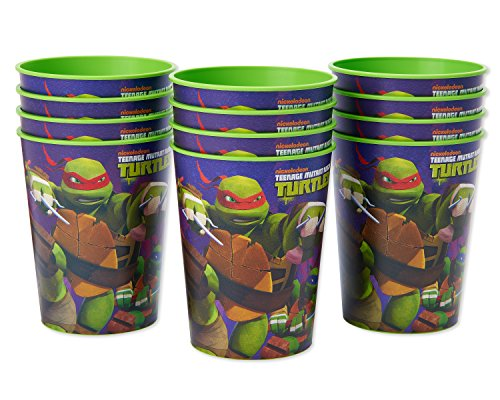 Nickelodeon Teenage Mutant Ninja Turtles Plastic Cups Party, Stadium Cup, 12-Count -