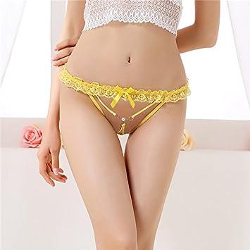 ZL de zzfspitzen – Tanga Ropa Interior Cintura Transparente T Pantalones Ropa Interior femenina Tentación,