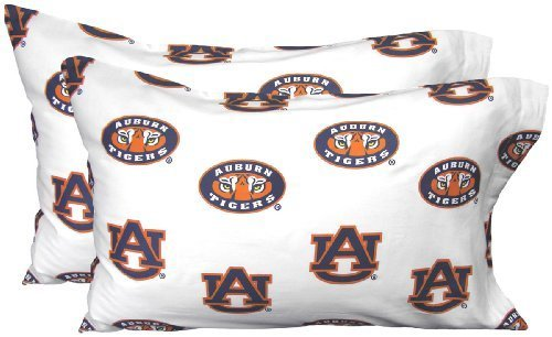 College Covers Auburn Tigers Pillowcase Pair, Standard, Team Color