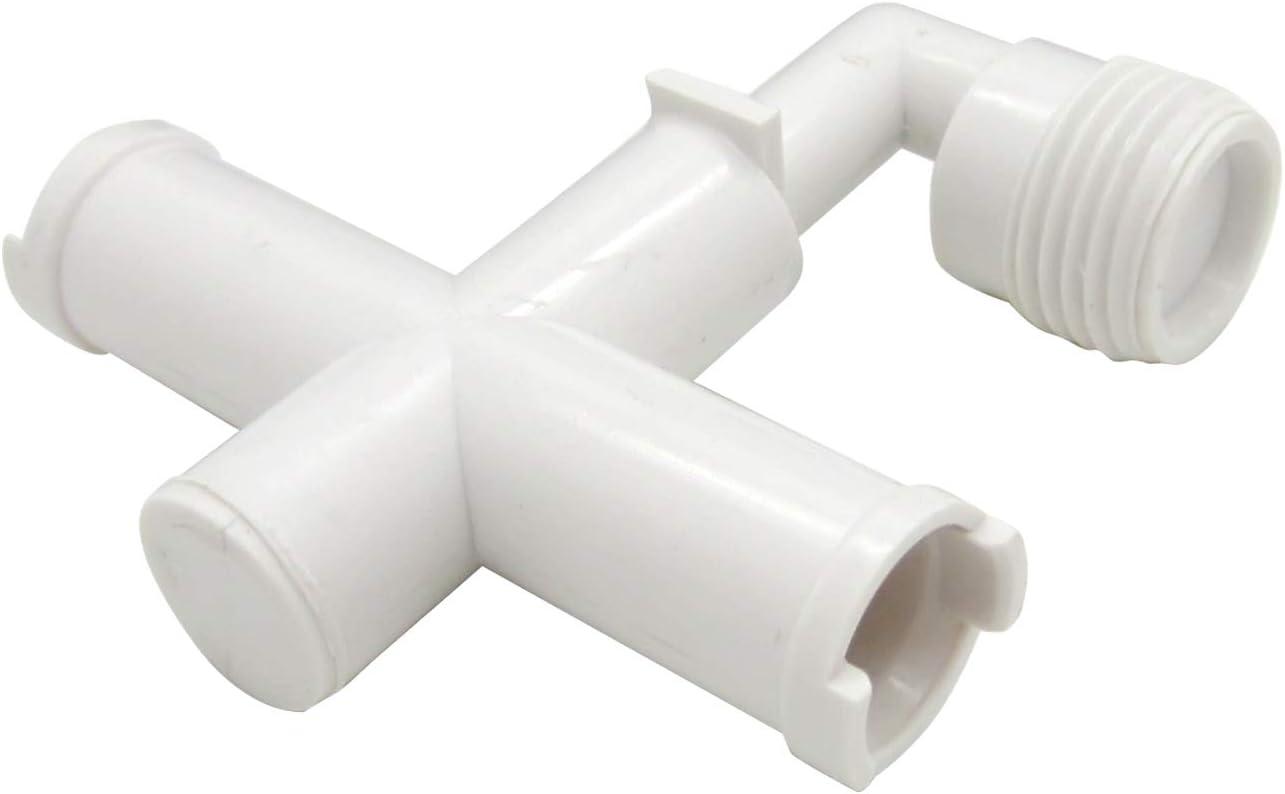 Dura Faucet DF-RK910-WT RV Exterior Shower Faucet Diverter Tee Replacement (White)
