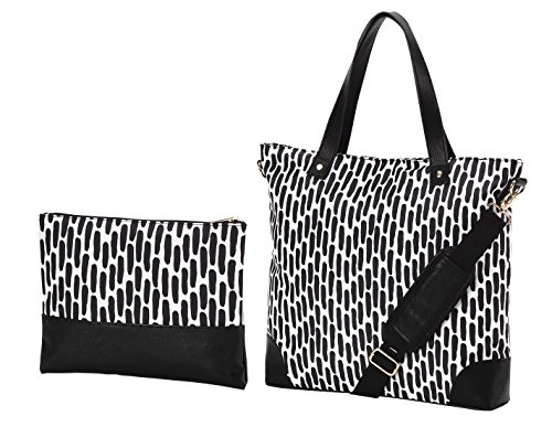- Custom Deluxe Shoulder Tote Set with Pouch (Carolina Night)