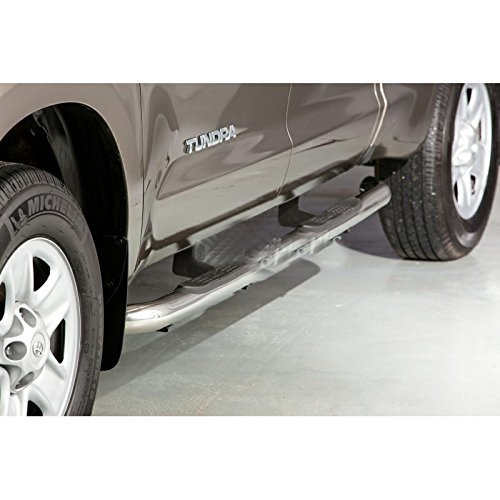 """Fit 07-14 Toyota Tundra Double/Crew Cab (w/ 2 Half Size Rear Doors) 3"""" Round Tube Side Step Rail Nerf Bar Running Boards"""