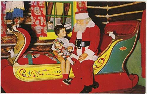 Santa Entertaining Visitor - Santa's Workshop North Pole - Wilmington New York - Vintage Chrome Amusement Park Postcard - #79493877