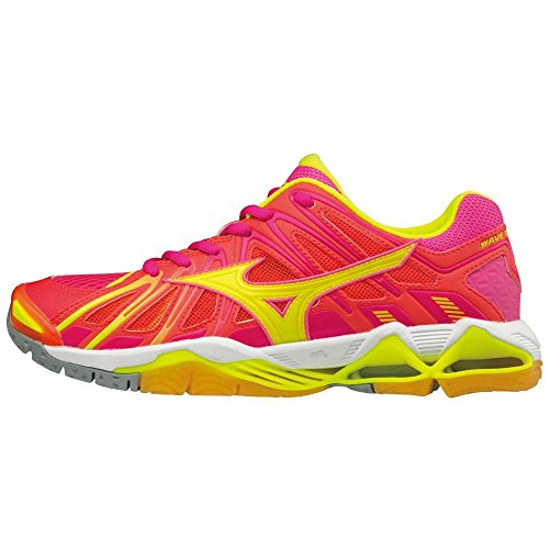 Wos Tornado orange Mujer Mizuno Voleibol para jaune de Zapatos Wave rose X2 w71q5Ft