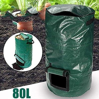 80L Residuos orgánicos Jardín de la cocina Patio Compost Bolsa ...