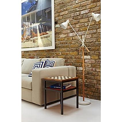 DLewiee Nordic Holz Stehlampe Wohnzimmer Schlafzimmer Den Kreativen Minimalistischem Amerikanischen Land Lampe Stehend Rot Amazonde Beleuchtung