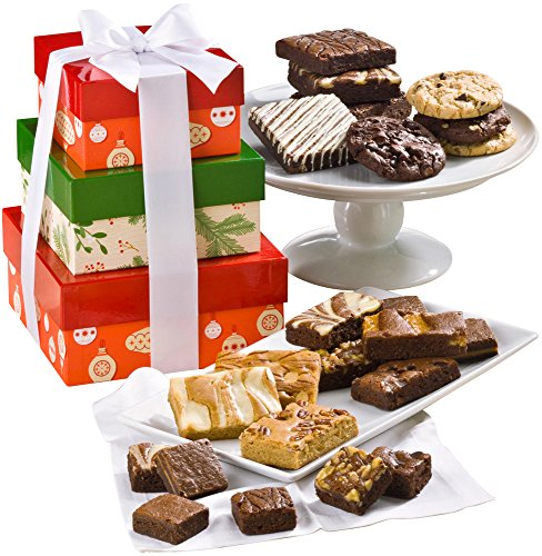Fairytale Brownies Christmas 3-Box Gourmet Food Gift Basket Chocolate Tower - Assorted...
