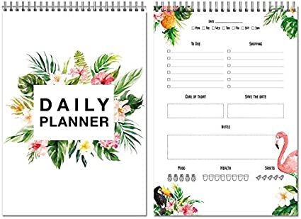50 fogli DIN A4 To Do List Made in Germany Daily Planner Pianificatore giornaliero coi fenicotteri To Do Planer Design tropicale by Local /& Urban senza data