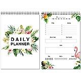 To Do List / Pianificatore giornaliero coi fenicotteri / Daily Planner / DIN A4 / 50 fogli / senza data / To Do Planer / Design tropicale by Local & Urban / Made in Germany