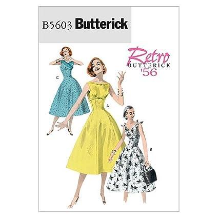 aa097e6e5f4 Amazon.com  BUTTERICK PATTERNS B5603 Misses  Dress