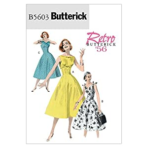 1950s Sewing Patterns | Swing and Wiggle Dresses, Skirts 1956 Dress Size AA (6-8-10-12) $7.21 AT vintagedancer.com
