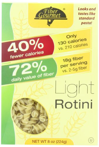 FiberGourmet Light Rotini, 8-Ounce Boxes (Pack of (Light Pasta)