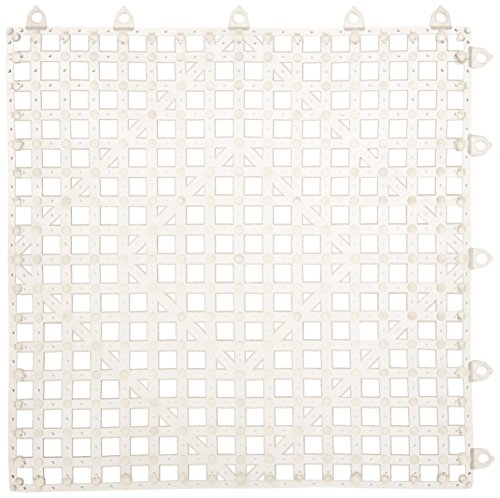 Winco BML-12C Interlocking Bar Mat, 12 by 12-Inch, Clear - Interlocking Bar Shelf Mat