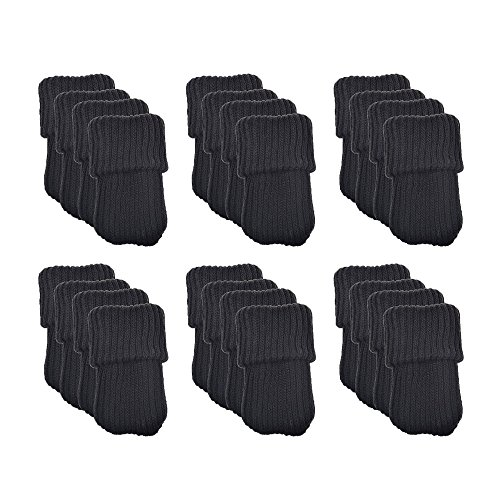 24 protectores de lana para patas de silla Meta-U®, negro, BHBAZUHAZA2483