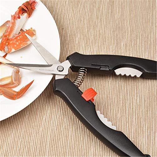 Sonita3008 Crab Crackers Tools Seafood Tool Set Kitchen Scissors Shrimp Crab Cracker Lobster Scissors Needle Forks Picks Seafood Tool 3Pcs