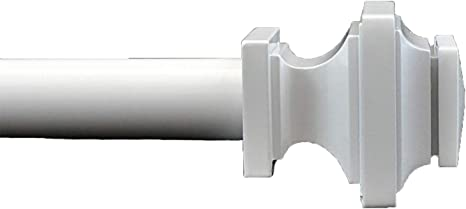Glossy White, 88-120 Urbanest Zinc Cast Structure Drapery Curtain Rod Set 3//4