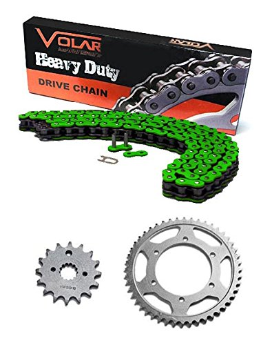 Ex250 Sprocket (2008-2012 Kawasaki Ninja 250R EX250 Chain and Sprocket Kit - Heavy Duty -)