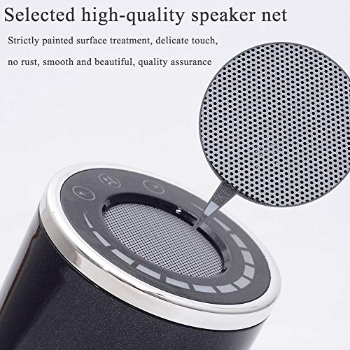 Way bocke Bluetooth Speaker with 5W Limited Output, Stereo Sound,Rich Bass,10M Bluetooth Range,Portable Wireless Speaker for iPhone,Samsung and More,Black