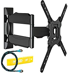 Invision Ultra Slim Tilt Swivel TV Wall Bracket Mount – For 24-55 Inch LED LCD Plasma & Curved Screens – Now Includes 1 – An excellent quality and value bracket, highly recommended.