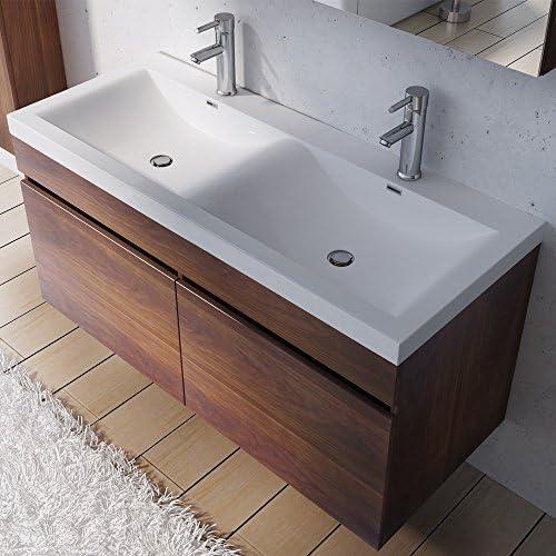 Meuble de salle de bains avec double lavabo ensemble de 2 ...