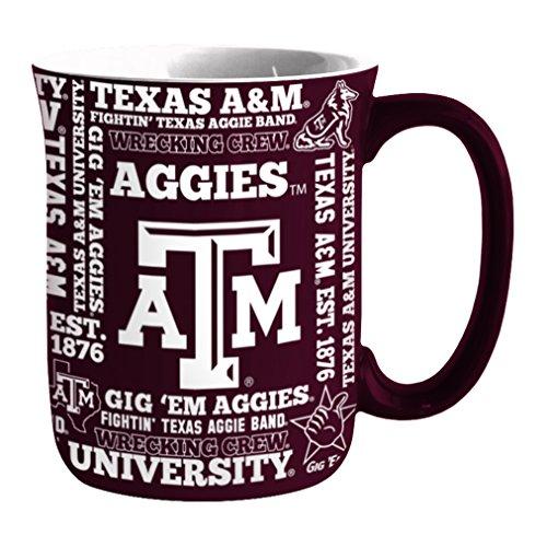NCAA Texas A&M Aggies Sculpted Spirit Mug, 17-ounce (Aggies Coffee A&m Texas)