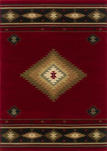 "Oriental Weavers Hudson 087K1 Area Rug, 3'10 x 5'5"""