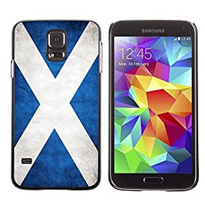 Shell-Star ( National Flag Series-Scotland ) Fundas Cover Cubre Hard Case Cover para Samsung Galaxy S5 V SM-G900