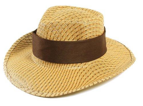 Simplicity Men's Ranger Cowboy Hats, Brown Color Band ()
