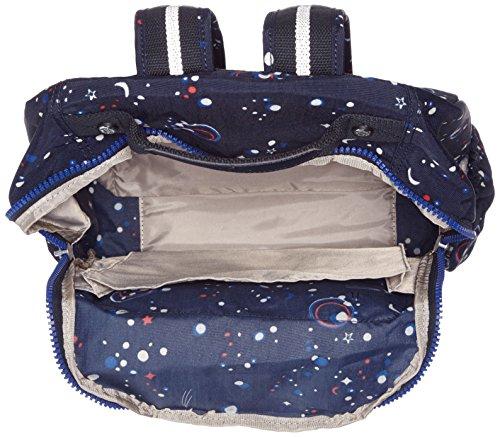 Kipling SEOUL UP Schulrucksack, 43 cm, 25 L, Warm Grey Galaxy Party