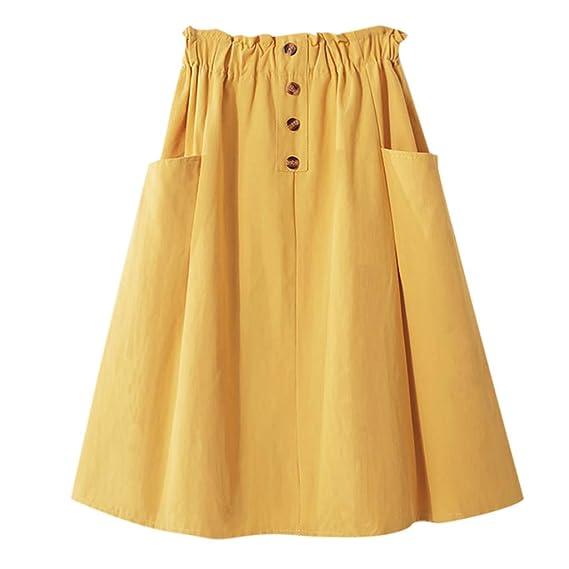 Vectry Faldas Vaqueras Mujer Falda Tul Mujer Larga Faldas Cortas ...