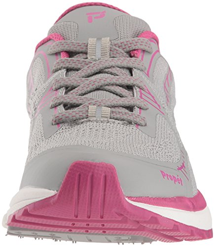 Propét Womens Propet One Lt Sneaker Gray / Berry