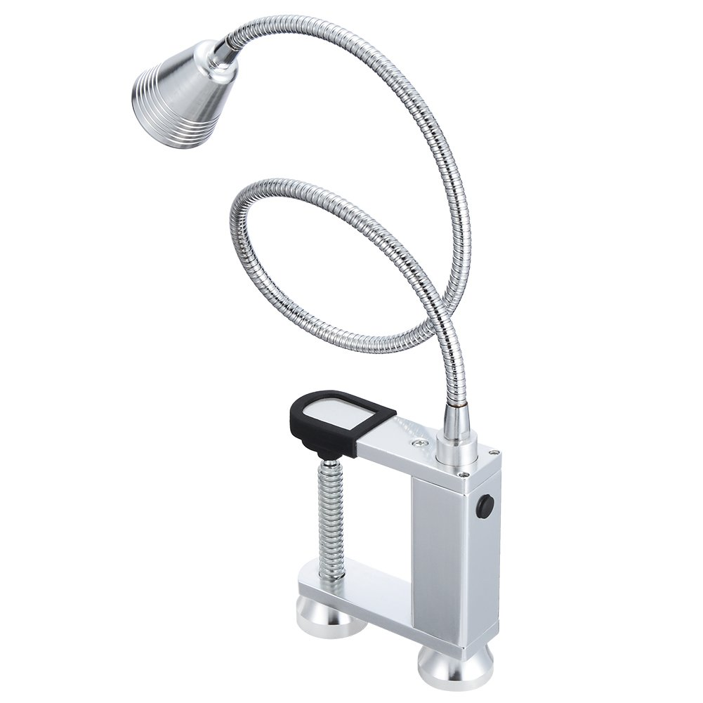 Litake Grill Light, Portable BBQ Light Outdoor Waterproof IP44 with Aluminum Shell Magnetic Base and Screw Clamp for Barbecue and Desk Lamp