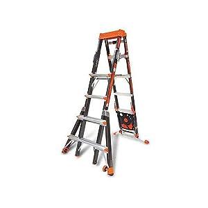 Little Giant 15131-920 Select Step 6-10' Fiberglass Adjustable Ladder w. AirDeck