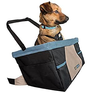Kurgo Rover Dog Car Seat, Dog Booster Seat with Dog Seatbelt