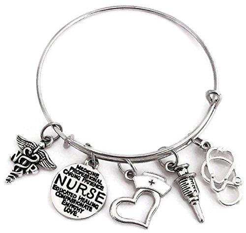 Practitioner Kit (NP bracelet, NP jewelry, NP Nurse Practitioner bracelet, NP charm bracelet, Nurse Practitioner bracelet, Nurse bracelet, Nurse Jewelry, Nurse wire bracelet, Nurse bangle bracelet, NP bangle bracelet)