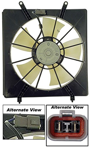 APDTY 731340 Radiator Cooling Fan Blade Motor Shroud Assembly Fits 1999-2004 Honda Odyssey Left Side (Replaces 19015-P8F-A01, 19020-P8F-A01 , 19030-P8F-A01)