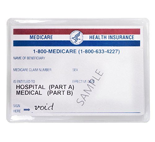 - Large Credit Card Protector Sleeve Original-Medicare-Card Clear 6 Mil (24)
