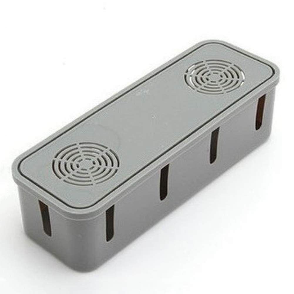 Flyes Bo/îte de Rangement de Prise de Courant de Bureau Power Strip Container Anti-poussi/ère Fil /électrique c/âble Organisateur