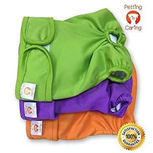 Dog Washable Diapers & Reusable by PETTING IS CARING – Female Dog Diapers Materials Durable Machine Washable Simple… Click on image for further info.