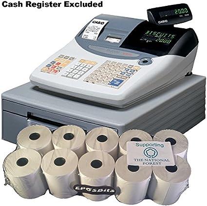 eposbits® marca rollos para caja registradora Casio TE-2000 TE2000 te 2000 – de 10 rollos: Amazon.es: Oficina y papelería