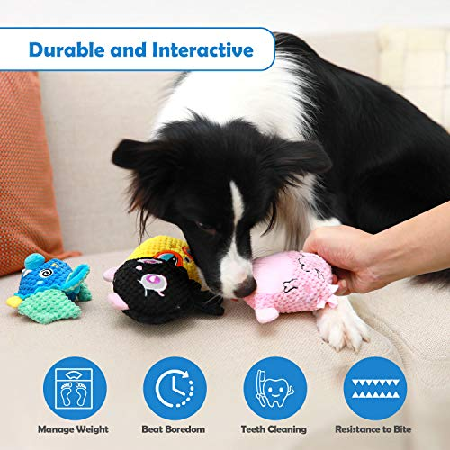 Dog Toys, Cute Puppy Toys, Stuffed Durable Plush Dog Chew Toys with Crinkle Sound, Soft Pet Toy for Small and Medium Dogs