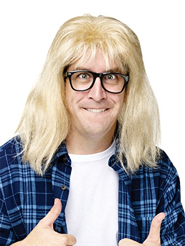 SNL Garth Algar Wig and Glasses Accessory - Waynes World Wig Garth
