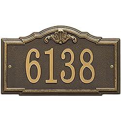 "Whitehall Custom Gatewood Standard Wall Address Plaque 14.25"" W x 8.5"" H (1 Line)"