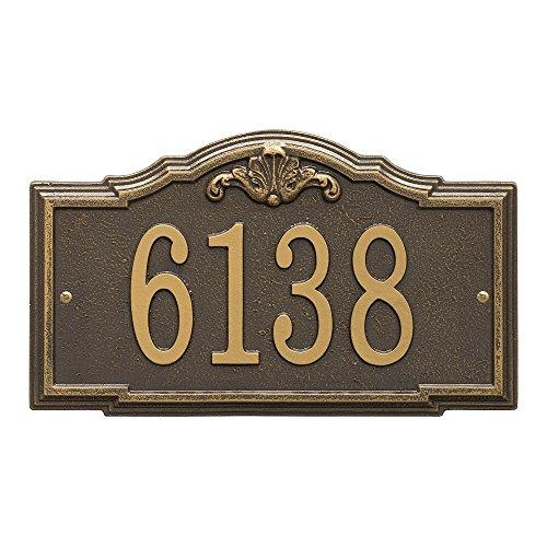 (Whitehall Custom Gatewood Standard Wall Aluminum Address Plaque 14.25