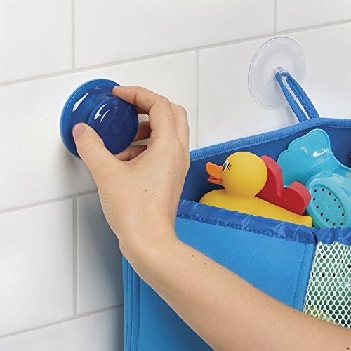 mDesign Organizador de juguetes para niños - Cesta para ducha y bañera con  ventosas - Estante rinconero de neopreno para guardar juguetes e8e861a86841