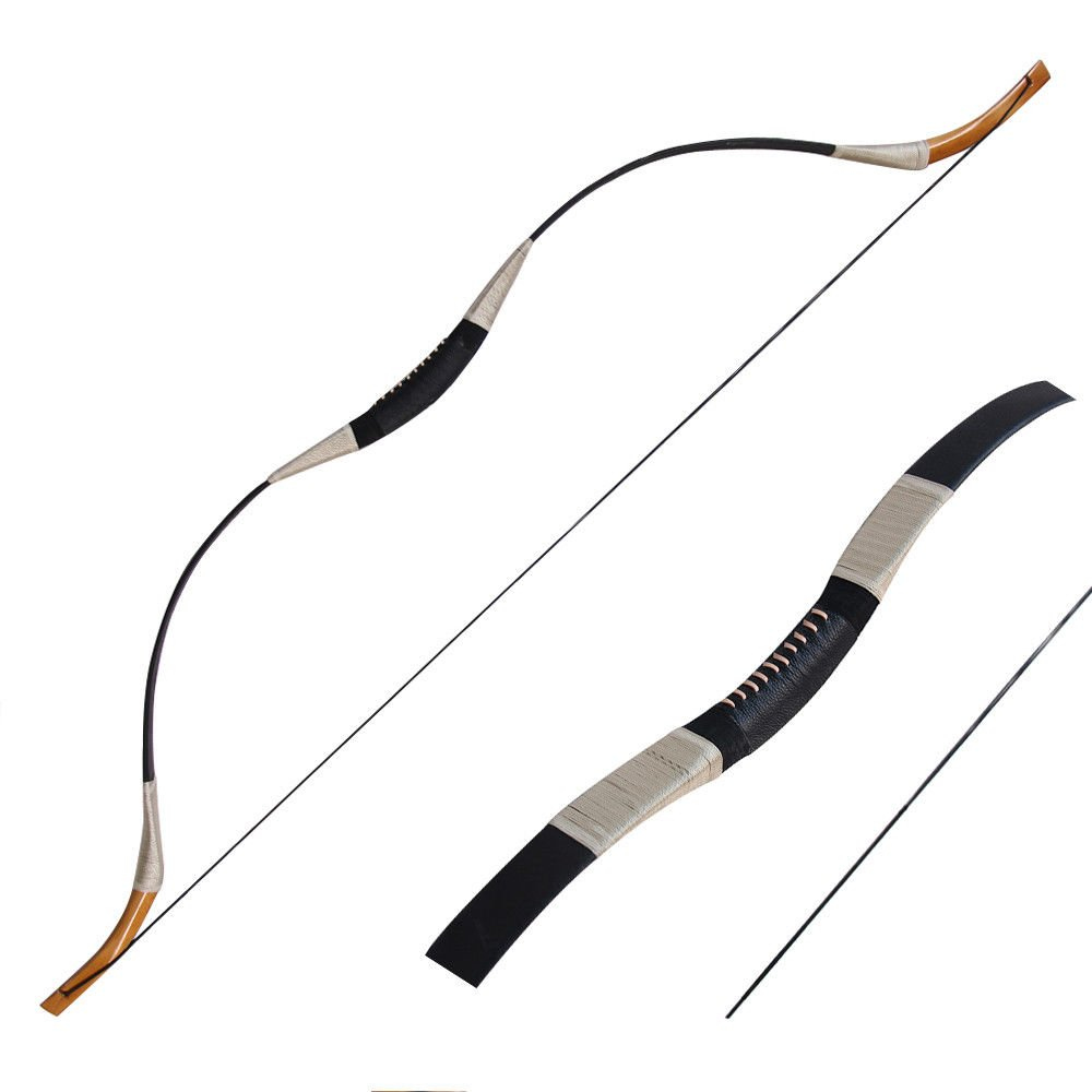 IRQ Traditional Recurve Bow Set Longbow Mongolian Horsebow One Piece Hunting Bow Left or Right Hand 30-65lbs Pure Handmade …