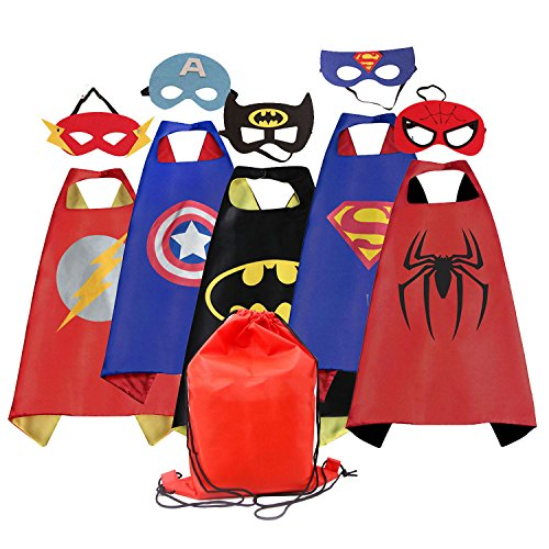 Dress up Costume Cape and Mask Set with